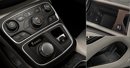 ergonomic and space efficient center console